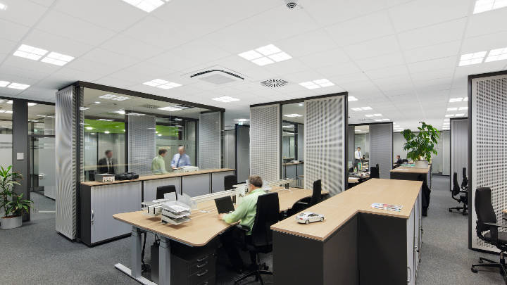 Modern lighting for office by Philips
