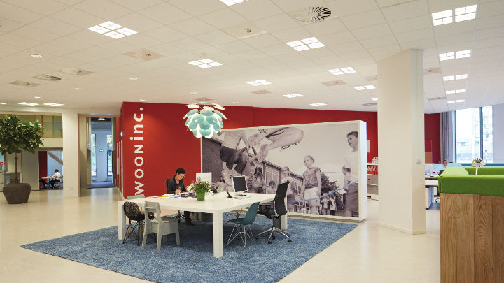 Wooninc, illuminated by Philips energy-efficient lighting for office
