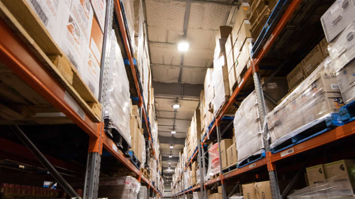 Warehouse and storage area lighting solutions by Philips NZ